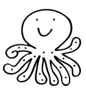 осьминог с точками