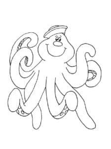 осьминог из мультика раскраска