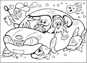 осьминоги в машинке