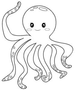 детская раскраска осьминог