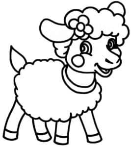 детская раскраска овечка