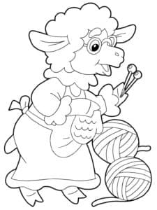бабушка овца