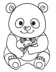 панда с бантиком