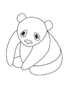 трафарет панда