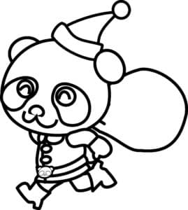 панда с подарками