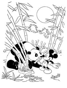 панда и микки маус