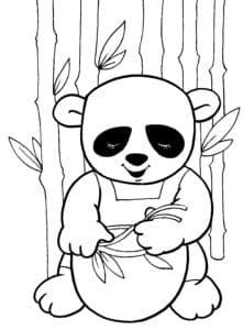 маленький медвежонок и тарелкой