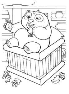 панда в манеже