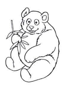 детская раскраска панда