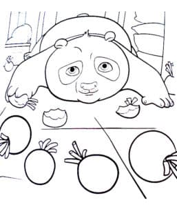 панда и фрукты