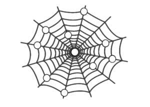 паутина с кружочками