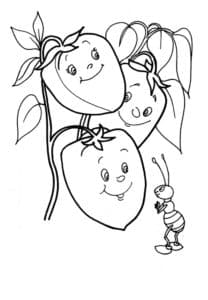 детская раскраска перец