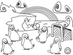 Пингвины играют в футбол