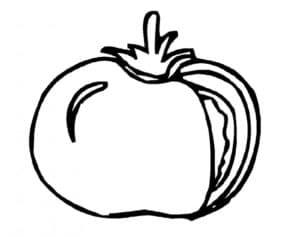 раскраска для детей помидор