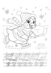 пингвин хоккеист