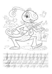кузнечик со скрипкой