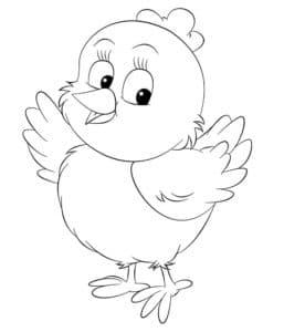 детская раскраска птенец