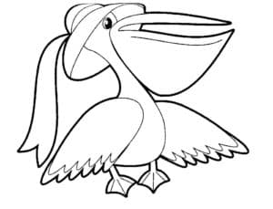 Пеликан в шляпе