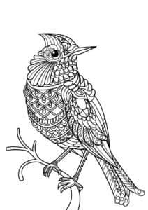 антистресс птица на ветке