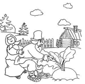 репка детская раскраска