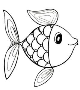 раскраска детская рыбка