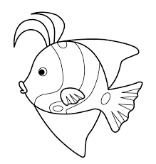 раскраска для детей рыбка