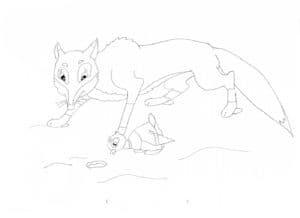 волк и серая шейка