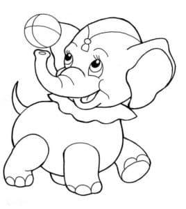 маленький слоник с мячиком