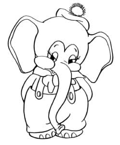 слоненок в комбинезоне