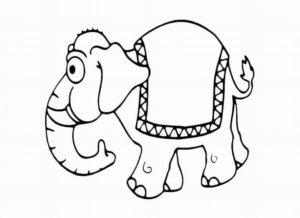 веселый слоник с ковриком
