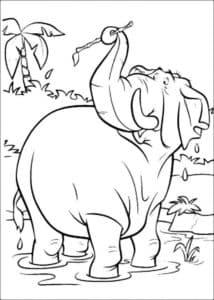 слон с палочкой