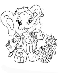 слоник с ананасом