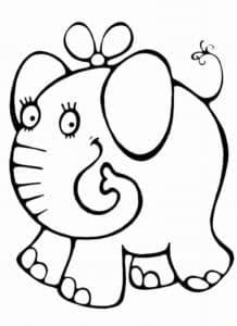 слоненок с бантиком