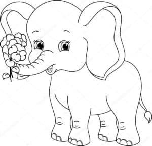 слоник с цветочками