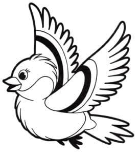 мультяшная птица