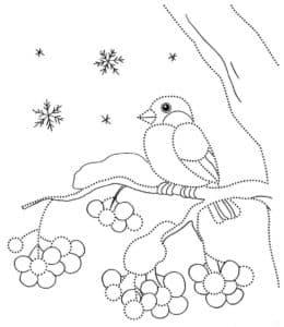 снегирь для вырезания