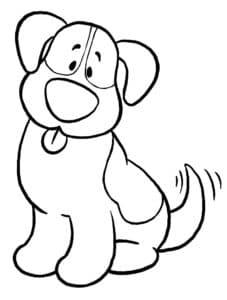 собачка детская раскраска