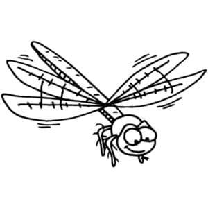 мультяшная стрекоза
