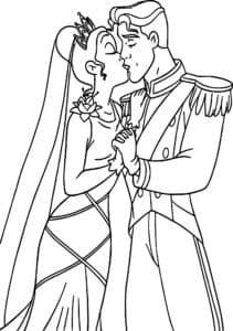 раскраска свадьба