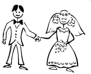 муж и жена раскраска