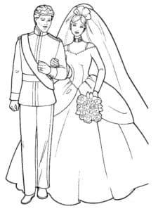 жених и невеста раскраска