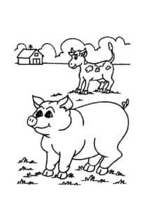 свинья и корова