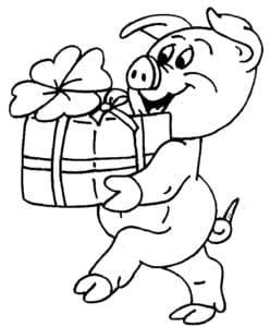 свинья с подарком