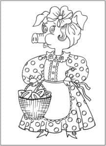 свинка в платье с пирожками