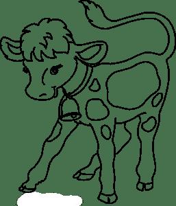 раскраска теленок