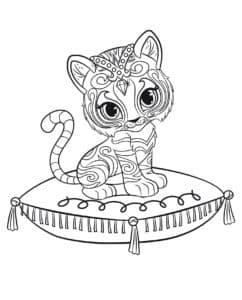 тигренок на подушке