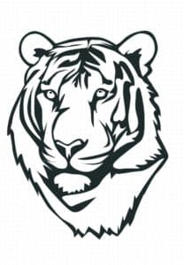 лицо тигра раскраска