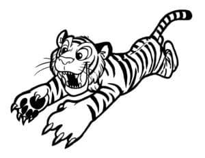 тигренок прыгает
