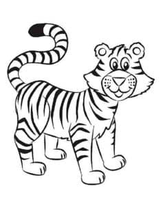 тигр из мультфильма