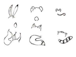 уши и хвосты животных